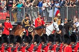 during Trooping the Colour {iptcyear4}, The Queen's Birthday Parade at Horse Guards Parade, Westminster, London, 9 June 2018, 10:58.