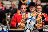 during Trooping the Colour {iptcyear4}, The Queen's Birthday Parade at Horse Guards Parade, Westminster, London, 9 June 2018, 10:59.