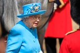during Trooping the Colour {iptcyear4}, The Queen's Birthday Parade at Horse Guards Parade, Westminster, London, 9 June 2018, 11:06.