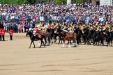 during Trooping the Colour {iptcyear4}, The Queen's Birthday Parade at Horse Guards Parade, Westminster, London, 9 June 2018, 11:55.