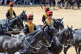 during Trooping the Colour {iptcyear4}, The Queen's Birthday Parade at Horse Guards Parade, Westminster, London, 9 June 2018, 11:57.