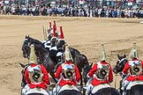 during Trooping the Colour {iptcyear4}, The Queen's Birthday Parade at Horse Guards Parade, Westminster, London, 9 June 2018, 12:17.