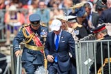 during Trooping the Colour {iptcyear4}, The Queen's Birthday Parade at Horse Guards Parade, Westminster, London, 9 June 2018, 12:20.
