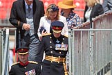 during Trooping the Colour {iptcyear4}, The Queen's Birthday Parade at Horse Guards Parade, Westminster, London, 9 June 2018, 12:27.